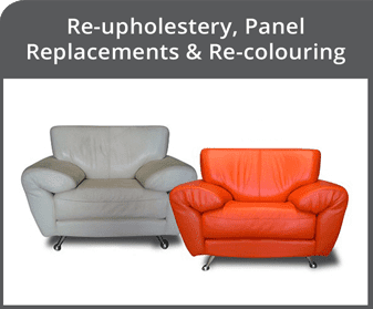 Re-upholstery, Panel Replacement and Re-colouring