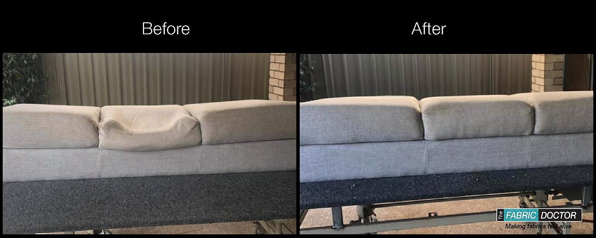 Fabric Restoration Before and After