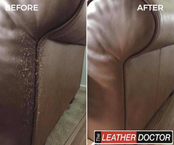 Leather cat claw/scratch repair