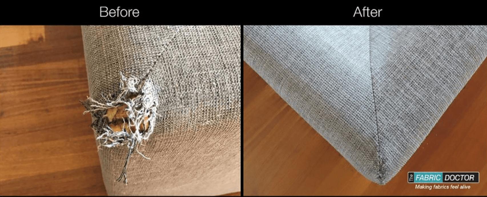 Couch tare repair - furniture damage
