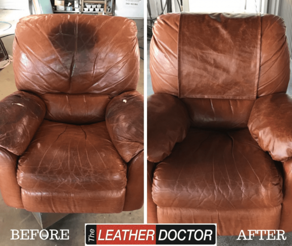 repairing leather with stains